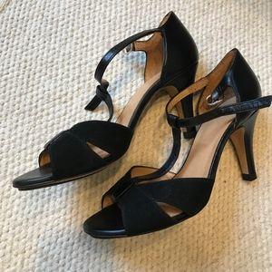 Sezane black suede heels - brand NEW, size 7/37